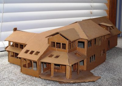 South east view of rough study model