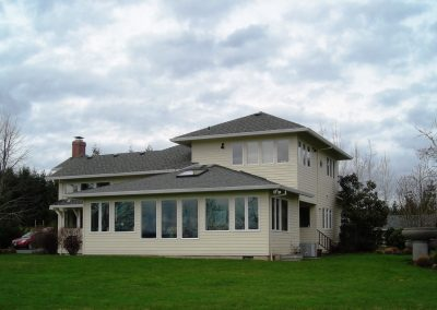South view after sunroom was enclosed in 2004.