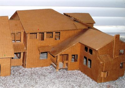 Entry view of rough study model